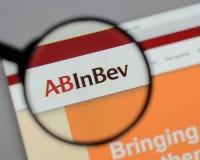 Μιλάνο, Ιταλία - 10 Αυγούστου 2017: ABinBEv, Anheuser Busch στη Bev λ Στοκ φωτογραφίες με δικαίωμα ελεύθερης χρήσης