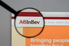 Μιλάνο, Ιταλία - 10 Αυγούστου 2017: ABinBEv, Anheuser Busch στη Bev λ Στοκ Εικόνες