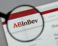 Μιλάνο, Ιταλία - 10 Αυγούστου 2017: ABinBEv, Anheuser Busch στη Bev λ Στοκ εικόνα με δικαίωμα ελεύθερης χρήσης