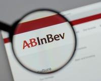 Μιλάνο, Ιταλία - 10 Αυγούστου 2017: ABinBEv, Anheuser Busch στη Bev λ Στοκ Φωτογραφία