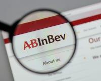 Μιλάνο, Ιταλία - 10 Αυγούστου 2017: ABinBEv, Anheuser Busch στη Bev λ Στοκ Εικόνα