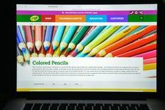 Μιλάνο, Ιταλία - 10 Αυγούστου 2017: crayola αρχική σελίδα ιστοχώρου COM Γ Στοκ Εικόνα