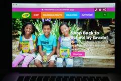 Μιλάνο, Ιταλία - 10 Αυγούστου 2017: crayola αρχική σελίδα ιστοχώρου COM Γ Στοκ Φωτογραφία