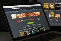 Μιλάνο, Ιταλία - 10 Αυγούστου 2017: humblebundle ιστοχώρος COM homepag Στοκ φωτογραφίες με δικαίωμα ελεύθερης χρήσης