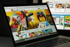 Μιλάνο, Ιταλία - 10 Αυγούστου 2017: Lego αρχική σελίδα ιστοχώρου COM Είναι Στοκ φωτογραφία με δικαίωμα ελεύθερης χρήσης