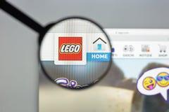 Μιλάνο, Ιταλία - 10 Αυγούστου 2017: Lego αρχική σελίδα ιστοχώρου COM Είναι Στοκ Φωτογραφίες