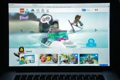 Μιλάνο, Ιταλία - 10 Αυγούστου 2017: Lego αρχική σελίδα ιστοχώρου COM Είναι Στοκ Εικόνα