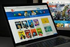 Μιλάνο, Ιταλία - 10 Αυγούστου 2017: Lego αρχική σελίδα ιστοχώρου COM Είναι Στοκ Εικόνες