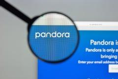 Μιλάνο, Ιταλία - 10 Αυγούστου 2017: Pandora αρχική σελίδα ιστοχώρου COM PA Στοκ Φωτογραφία