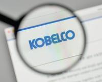 Μιλάνο, Ιταλία - 1 Νοεμβρίου 2017: Λογότυπο ο Kobelco Ιαπωνία χάλυβα του Kobe Στοκ εικόνες με δικαίωμα ελεύθερης χρήσης