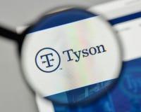 Μιλάνο, Ιταλία - 1 Νοεμβρίου 2017: Λογότυπο τροφίμων του Tyson στον ιστοχώρο στοκ φωτογραφίες