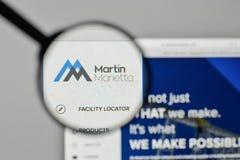 Μιλάνο, Ιταλία - 1 Νοεμβρίου 2017: Λογότυπο υλικών του Martin Marietta Στοκ Εικόνα