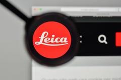 Μιλάνο, Ιταλία - 1 Νοεμβρίου 2017: λογότυπο leica στον ιστοχώρο homep Στοκ Εικόνες