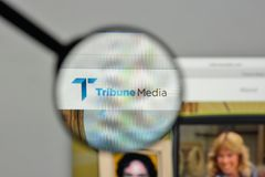 Μιλάνο, Ιταλία - 1 Νοεμβρίου 2017: Λογότυπο MEDIA βημάτων στο websi Στοκ Εικόνα