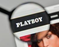 Μιλάνο, Ιταλία - 1 Νοεμβρίου 2017: Λογότυπο Playboy στον ιστοχώρο hom Στοκ εικόνα με δικαίωμα ελεύθερης χρήσης