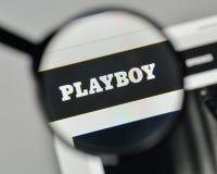 Μιλάνο, Ιταλία - 1 Νοεμβρίου 2017: Λογότυπο Playboy στον ιστοχώρο hom Στοκ φωτογραφίες με δικαίωμα ελεύθερης χρήσης
