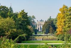 Μιλάνο, Ιταλία - 19 Οκτωβρίου 2015: Πάρκο Sempione Στοκ εικόνα με δικαίωμα ελεύθερης χρήσης