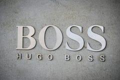 Μιλάνο, Ιταλία - 24 Σεπτεμβρίου 2017: Κατάστημα της Hugo Boss στο Μιλάνο FA Στοκ Εικόνα