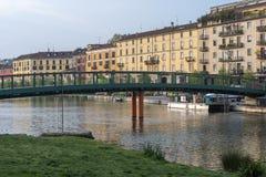 Μιλάνο, Ιταλία: Darsena στοκ φωτογραφία με δικαίωμα ελεύθερης χρήσης