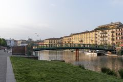 Μιλάνο, Ιταλία: Darsena στοκ φωτογραφίες με δικαίωμα ελεύθερης χρήσης