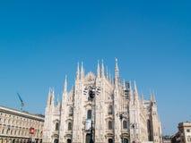 Μιλάνο-Ιταλία-03 12 2014, Piazza del Duomo, γοτθικός καθεδρικός ναός με Στοκ Εικόνες