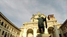 Μιλάνο Πλατεία Vetra Olmetto Colonne Di SAN Lorenzo φιλμ μικρού μήκους