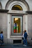 Μιλάνο - 24 Σεπτεμβρίου 2017: Κατάστημα του Giorgio Armani στο Μιλάνο Στοκ Φωτογραφία