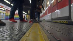 Μιλάνο - σταθμός μετρό ουράνιων τόξων - Porta Venezia απόθεμα βίντεο