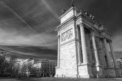 Μιλάνο: Arco ρυθμός della Στοκ φωτογραφία με δικαίωμα ελεύθερης χρήσης