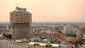 Μιλάνο/31-05-2018: Torre Velasca, εναέρια άποψη φιλμ μικρού μήκους