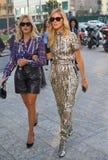 ΜΙΛΑΝΟ, Ιταλία: Στις 19 Σεπτεμβρίου 2018: CHIARA FERRAGNI και αδελφή VALENTINA που περπατά στην οδό Στοκ φωτογραφίες με δικαίωμα ελεύθερης χρήσης