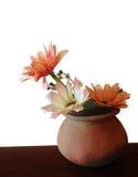 Μιμηθείτε το λουλούδι στο κεραμικό δοχείο στοκ φωτογραφίες
