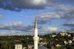 Μιναρές στην Κωνσταντινούπολη Στοκ εικόνες με δικαίωμα ελεύθερης χρήσης