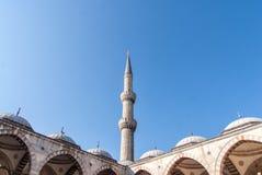 Μιναρές του μπλε μουσουλμανικού τεμένους, Sultanahmet Camii, Ιστανμπούλ στοκ φωτογραφία