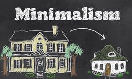 Μινιμαλισμός - ζωντανός σημαντικός με λιγότερους απεικόνιση αποθεμάτων