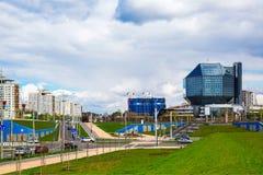 Μινσκ, εθνική βιβλιοθήκη στοκ εικόνες