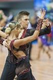 Μινσκ, 14.2015 λευκορωσικός-Φεβρουαρίου: Μη αναγνωρισμένος επαγγελματικός χορός Στοκ εικόνες με δικαίωμα ελεύθερης χρήσης