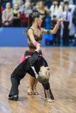 Μινσκ, 14.2015 λευκορωσικός-Φεβρουαρίου: Μη αναγνωρισμένος επαγγελματικός χορός Στοκ φωτογραφίες με δικαίωμα ελεύθερης χρήσης