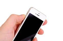 Μινσκ, Λευκορωσία - 16 Απριλίου 2016: IPhone της Apple 5, 5S Άσπρο versi Στοκ εικόνες με δικαίωμα ελεύθερης χρήσης