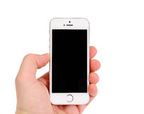 Μινσκ, Λευκορωσία - 16 Απριλίου 2016: IPhone της Apple 5, 5S Μπροστινή όψη Στοκ Εικόνες