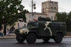 Μινσκ, Λευκορωσία - 1 Ιουλίου 2019: στρατιωτικός εξοπλισμός στο κέντρο πόλεων σε μια πρόβα για την παρέλαση της ημέρας της ανεξαρ στοκ φωτογραφίες με δικαίωμα ελεύθερης χρήσης
