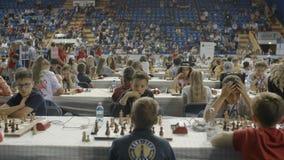 Μινσκ, Λευκορωσία - 22 Ιουνίου 2018 Μέρος του παγκόσμιου πρωταθλήματος σκακιού παιχνιδιού παιδιών φιλμ μικρού μήκους
