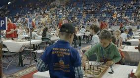Μινσκ, Λευκορωσία - 22 Ιουνίου 2018 Μέρος του σκακιού παιχνιδιών παιδιών διεθνούς απόθεμα βίντεο