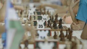 Μινσκ, Λευκορωσία - 22 Ιουνίου 2018 Παίζοντας διεθνές παγκόσμιο πρωτάθλημα σκακιού απόθεμα βίντεο