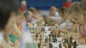 Μινσκ, Λευκορωσία - 22 Ιουνίου 2018 Παγκόσμιοι μαθητές στρατιωτικής σχολής γρήγοροι και πρωτάθλημα σκακιού αιφνιδιαστικών επιθέσε απόθεμα βίντεο