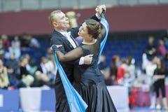 Μινσκ-Λευκορωσία, 16 Μαρτίου: Βλαντιμίρ Zherdeckiy – Larisa Karpova Στοκ Εικόνα