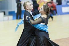 Μινσκ-Λευκορωσία, 16 Μαρτίου: Βλαντιμίρ Zherdeckiy – Larisa Karpova Στοκ φωτογραφία με δικαίωμα ελεύθερης χρήσης