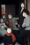 Μινσκ, Λευκορωσία - 11 Νοεμβρίου 2016: Παιδιά ως mimes φεστιβάλ Listapadzik ταινιών Στοκ εικόνα με δικαίωμα ελεύθερης χρήσης