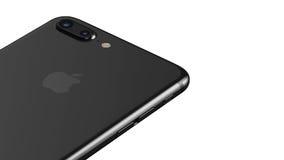 Μινσκ, Λευκορωσία - 12 Οκτωβρίου 2016: τρισδιάστατη απόδοση του iPhone 7 της Apple συν Διανυσματική απεικόνιση