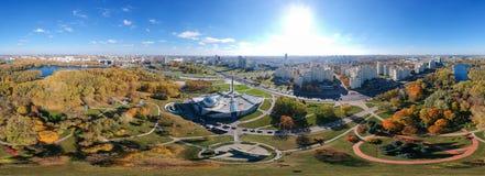 Μινσκ, Λευκορωσία Πανόραμα Equirectangular στοκ εικόνα